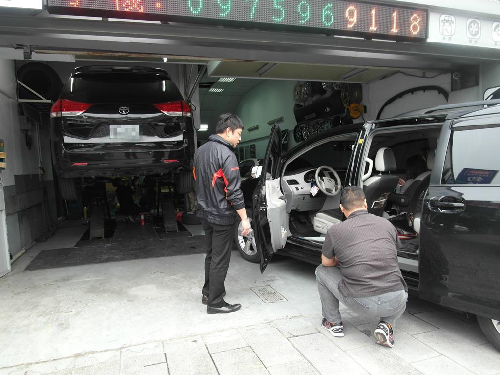 台北市南港區推薦汽車維修保養修車輪胎廠米格汽車汽車維修區