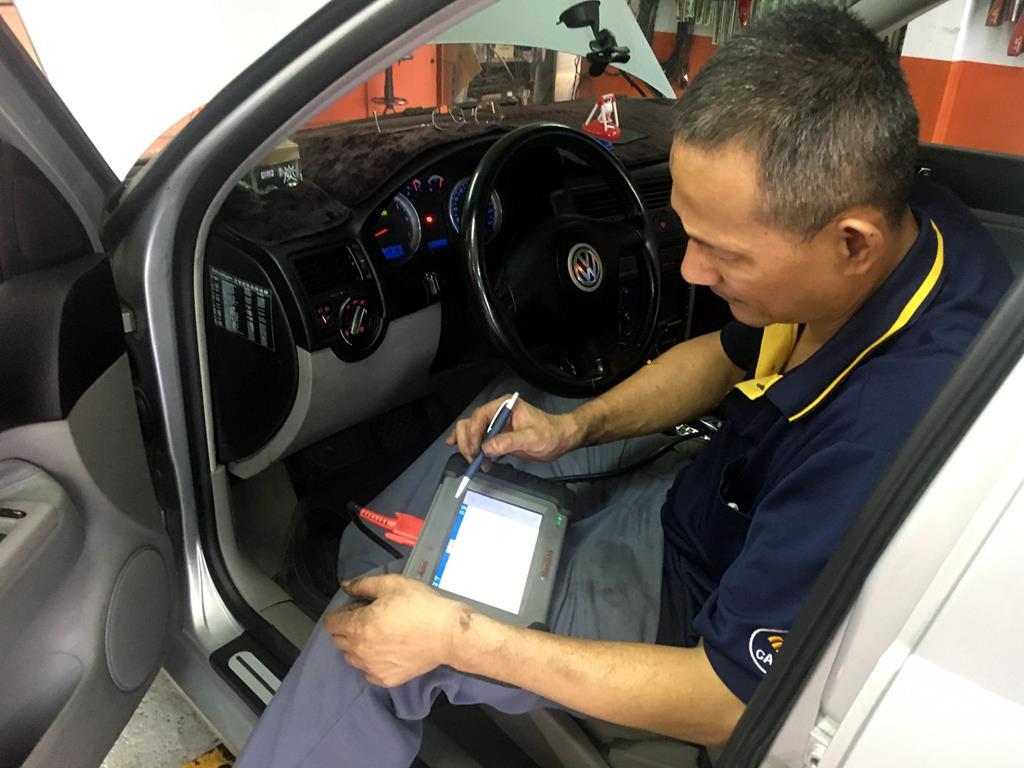 台北市大安區推薦修車廠固特異-偉盛輪胎行診斷電腦