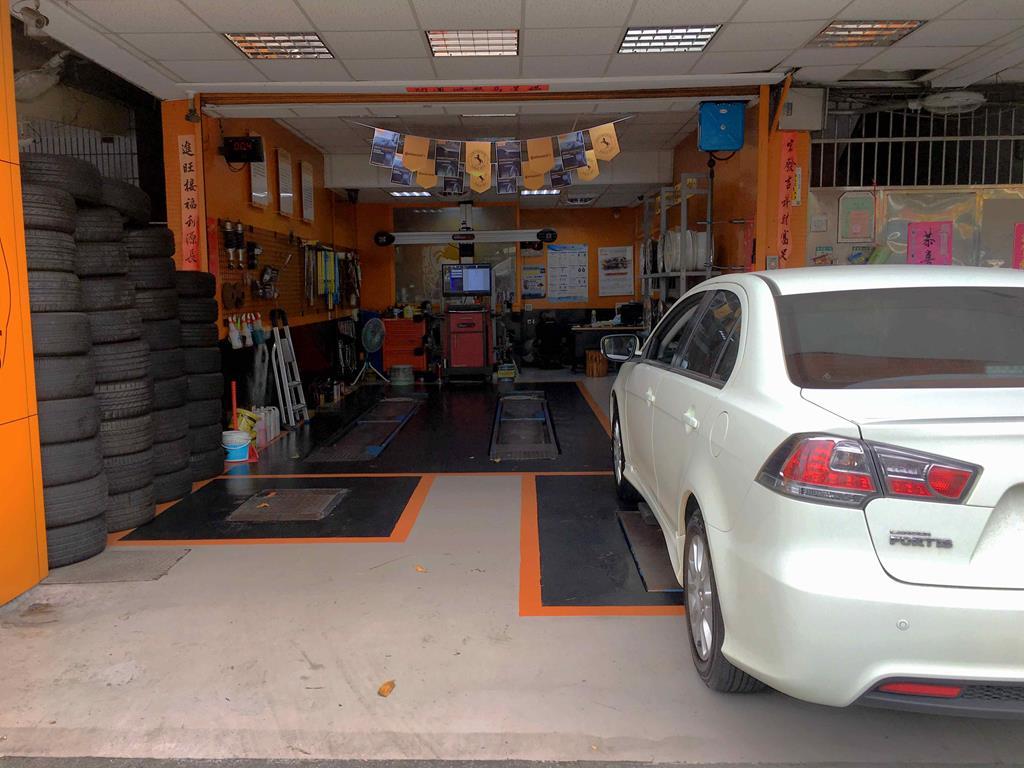 新北市土城區推薦輪胎行固特異-宏進輪胎車廠環境