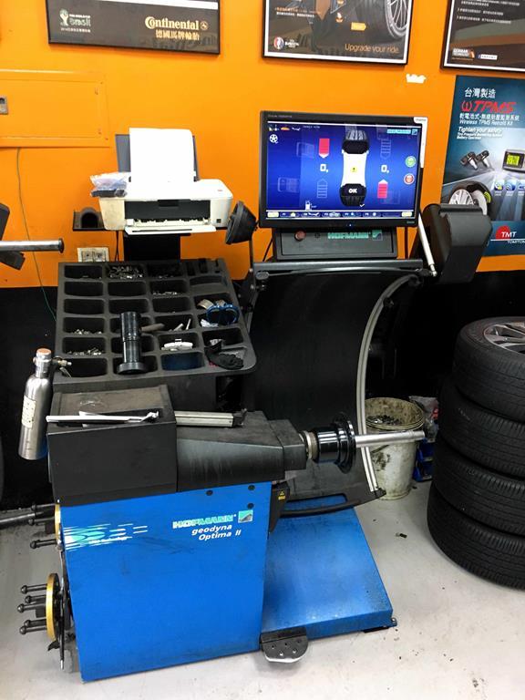 新北市土城區推薦輪胎行固特異-宏進輪胎平衡儀器