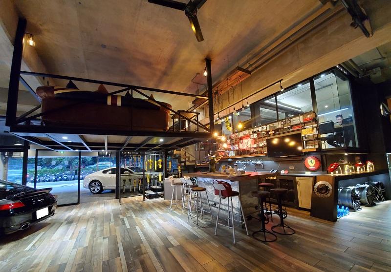 【國豐動力-內湖廠】美式風格濃郁的會客室,備有飲料區,十分便民