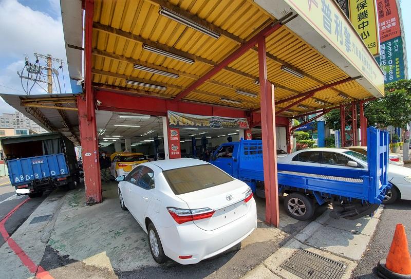 普利擎桃園春日店 廠區可一次容納8台車輛